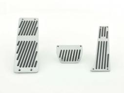 Set de pedale din aluminiu FK din 3 piese BMW 3, 5, 7, X3, X5, Z3, transmisie automată, acoperire pedale, pedale auto, cu dungi