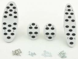 Set de pedale din aluminiu FK din 4 piese Mini Cooper, transmisie manuală, capac pentru pedale, pedale auto, știfturi din cauciuc