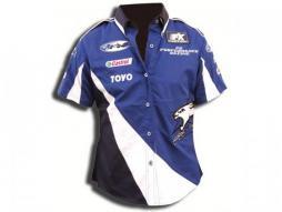 Bluză cămașă doamnă albastru-alb Dimensiune M bluză cămașă