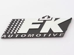 Aufkleber Chrom 3D Autoaufkleber 3D FK Automotive Logo chrom