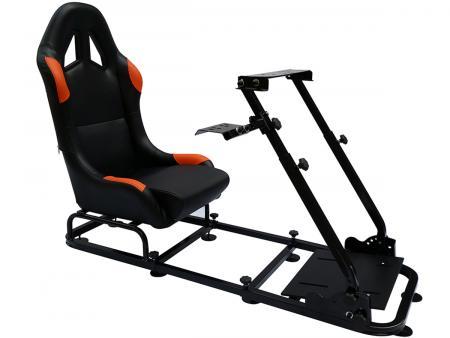 FK scaun de joc scaun de joc simulator de curse eGaming Seats Monaco negru / portocaliu negru / portocaliu