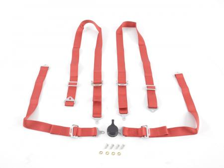 Harness belt 4-point harness racing harness universal red