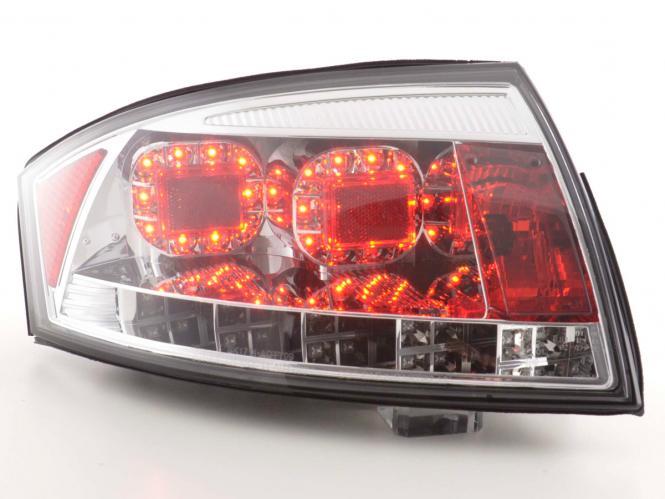 LED Rückleuchten Set Audi TT Typ 8N Bj. 99-06 chrom