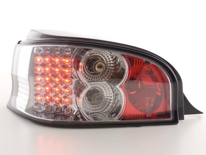 LED Rückleuchten Set Citroen Saxo Typ S/S HFX / S KFW Bj. 96-02 chrom
