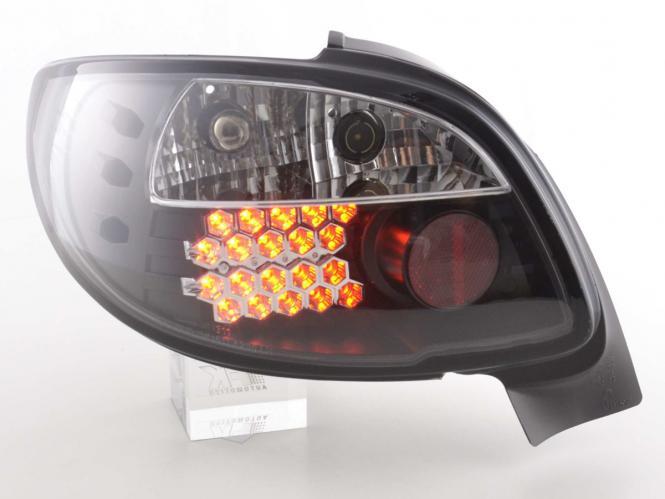 LED Rückleuchten Set Peugeot 206 CC Cabrio Bj. 98-05 schwarz
