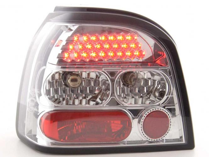 LED Rückleuchten Set VW Golf 3 Typ 1HXO Bj. 92-97 chrom