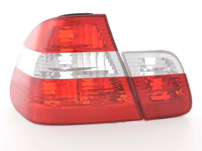 Rückleuchten Set BMW 3er Limo Typ E46 Bj. 01-05 weiß/rot