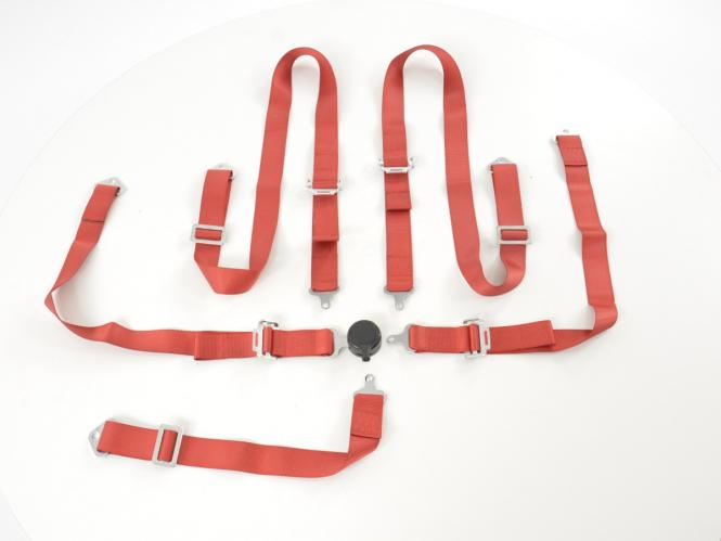Hosenträgergurt 5-Punkt Gurt Renngurt universal rot