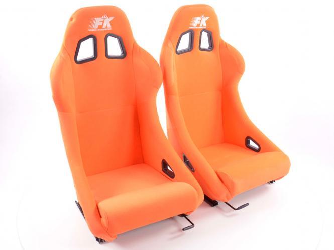 FK Sportsitze Auto Vollschalensitze Set San Francisco Stoff orange