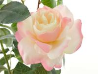 Kunstrose mit 2 Blüten und 1 Knospe rose