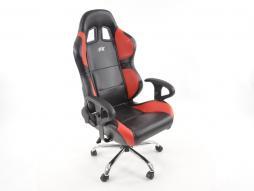 Scaun sport FK scaun pivotant birou Phoenix negru / roșu scaun executiv scaun pivotant scaun birou