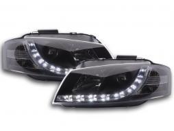 Far cu lumina zilei LED DRL aspect Audi A3 tip 8P An 03-07 negru