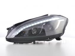 Scheinwerfer Set Daylight LED TFL-Optik Mercedes-Benz S-Klasse (221) Bj. 05-09 schwarz