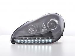 Set faruri folosit Daylight LED DRL look Porsche Cayenne Bj. 03-07 negru