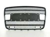 Sportgrill mit Positionslichthalter Frontgrill passend für Audi Q7 Typ 4L Bj. 05-09 schwarz