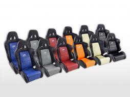 FK Sportsitze Auto Halbschalensitze Set Dallas in Motorsport-Optik [verschiedene Farben]