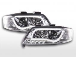 Faruri cu lumină de zi LED-uri lumini de mers pe timp de zi Audi A6 tip 4B 97-01 crom