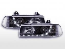 Faruri cu lumină de zi Lămpi de zi LED cu LED-uri BMW Seria 3 E36 sedan 92-98 negru