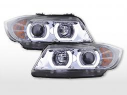 Scheinwerfer Set Daylight LED TFL-Optik BMW 3er E90/E91  05-08 chrom