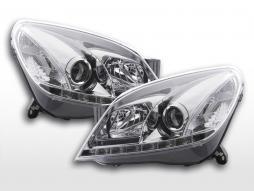Far cu lumina zilei LED lumini de zi Opel Astra H 2004-2009 crom