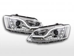 Faruri de zi cu LED-uri lumini de zi VW Jetta 6 din 2011 crom
