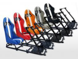 FK Gamesitz Spielsitz Rennsimulator eGaming Seats Interlagos Kunstleder [verschiedene Farben]