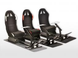 FK Gamesitz Spielsitz Rennsimulator eGaming Seats Suzuka Stoffbezug mit Teppich [verschiedene Farben]