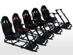 FK Gamesitz Spielsitz Rennsimulator eGaming Seats Monaco Textilgewebe/Stoff [verschiedene Farben]