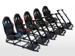 FK scaun de joc scaun de joc simulator de curse eGaming Scaune piele artificială Monaco [diferite culori]