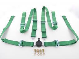 Hosenträgergurt 4-Punkt Gurt Renngurt universal grün