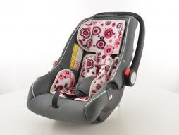 Kinderautositz Babyschale Autositz schwarz/weiß/pink Gruppe 0+, 0-13 kg