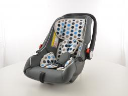 Kinderautositz Babyschale Autositz schwarz/weiß/blau Gruppe 0+, 0-13 kg