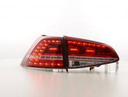 Set de stopuri LED VW Golf 7 din 2012 roșu / clar
