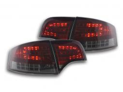 LED taillights set Audi A4 sedan type 8E 04-07 red / black