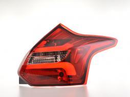 Set de stopuri LED Ford Focus 3 hatchback anul 11-14 roșu / clar