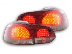 Stopuri LED VW Golf 6 tip 1K anul 08- negru / roșu