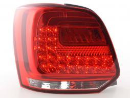 Stopuri LED VW Polo 6R Bj. Din 2009 clar / roșu