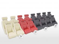 FK Oldtimersitze Set scaune cu cupă complet Montgomery cu tetiere [culori diferite] cu și fără șine de rulare