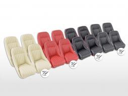 FK Oldtimersitze Auto Vollschalensitze Set Montgomery ohne Kopfstütze [verschiedene Farben] mit und ohne Laufschienen