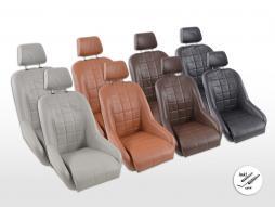 Scaune FK Oldtimer Set scaune cu găleată completă pentru vehicule Set Retro-Piazza [culori diferite] inclusiv șine de rulare