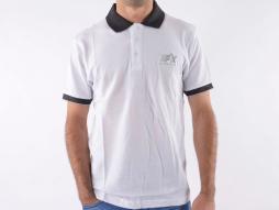 Cămașă polo, polo, cămașă, top modern, design clasă, alb mărimea L