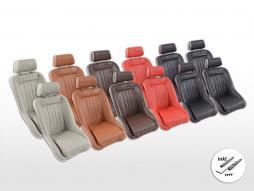 Scaune FK Oldtimer Set scaune pline pentru mașină Set Retro-Line [culori diferite] incl. Șine