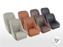 Scaune auto clasice FK, scaune cu cupă completă, set retro-aspect 1 [culori diferite] incl