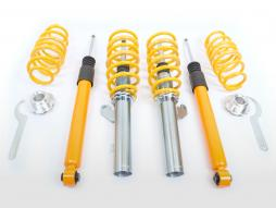 FK coilover kit sports suspension Seat Leon 5F from 2012 with 55mm strut, multi-link rear axle