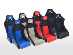 FK Sportsitze Auto Vollschalensitze Set Evolution mit Glanz-Fiberglas-Cover [verschiedene Farben]