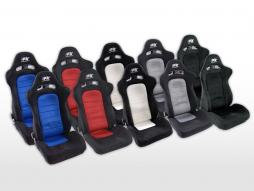 FK Sportsitze Auto Halbschalensitze Set Chicago in Motorsport-Optik [verschiedene Farben]