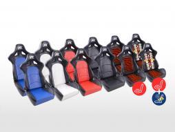 Scaune sport FK Scaune cu jumătate de caroserie Set Control în aspectul sportului cu motor piele artificială [diverse culori]