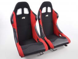 FK sport seats car full bucket seats set Los Angeles in motorsport look black red