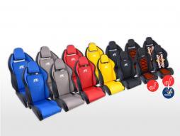FK Sportsitze Auto Halbschalensitze Set Race 5 in Motorsport-Optik [verschiedene Farben][Sitzheizung & Massage]