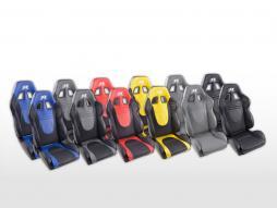FK Sportsitze Auto Halbschalensitze Set Racecar in Motorsport-Optik Kunstleder [verschiedene Farben]